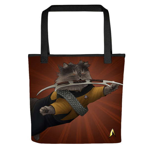 Star Trek: The Next Generation Worf Cat Tote Bag