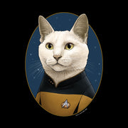 Star Trek: The Next Generation Data Cat Portrait Women's Relaxed Scoop Neck T-Shirt