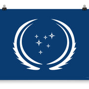Star Trek: Discovery Season 3 United Federation of Planets Flag Premium Satin Poster