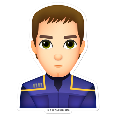 Star Trek: Enterprise Archer Emoji Die Cut Sticker