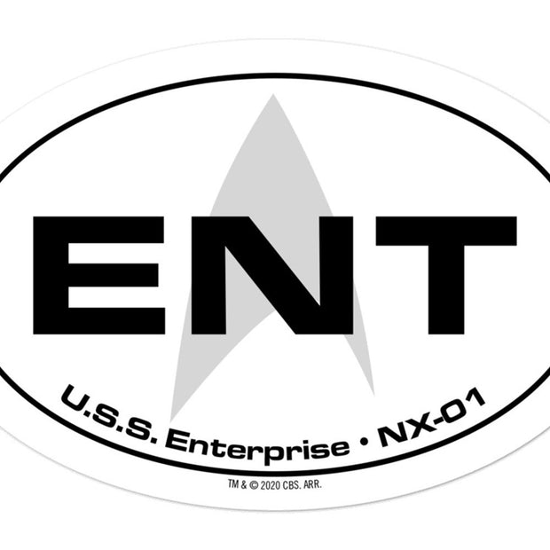 Star Trek: Enterprise Location Die Cut Sticker