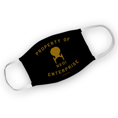 Star Trek: Enterprise Property of Enterprise Washable Face Mask