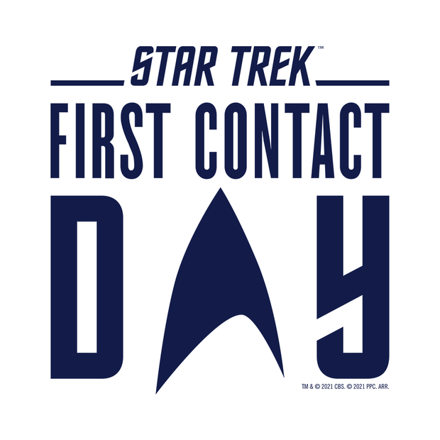 Star Trek: First Contact Day Blue Logo Women's Short Sleeve T-Shirt