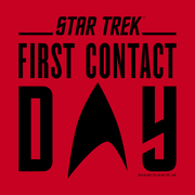 Star Trek: First Contact Black Logo Adult Short Sleeve T-Shirt