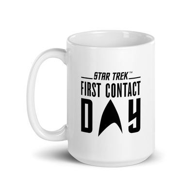 Star Trek: First Contact Day Black Logo White Mug
