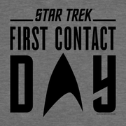 Star Trek: First Contact Day Black Logo Hooded Sweatshirt