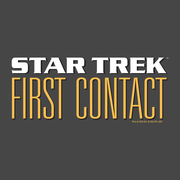 Star Trek: First Contact Logo Adult Short Sleeve Shirt