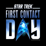 Star Trek: First Contact Day Nebula Logo Adult Short Sleeve T-Shirt