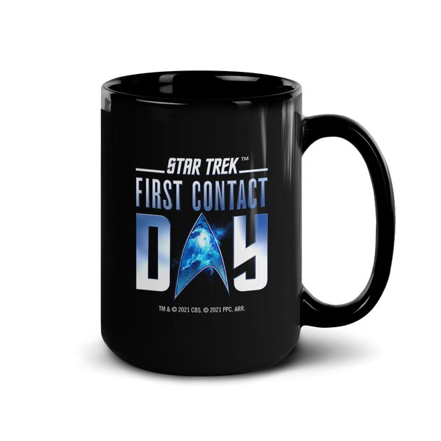 Star Trek: First Contact Day Nebula Logo White Mug