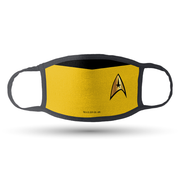 Star Trek Command Uniforms Face Masks- Pack of 5