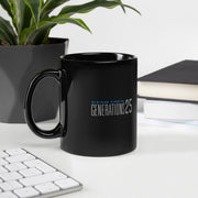 Star Trek: Generations 25 Logo Black Mug