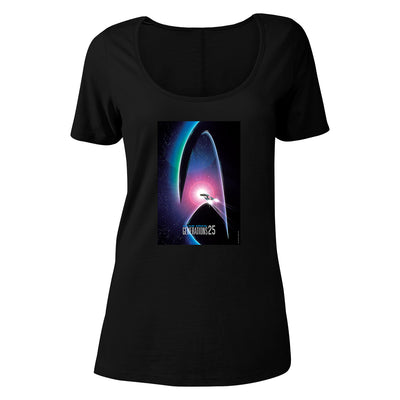 Star Trek: Generations Delta 25 Logo Women's Relaxed Scoop Neck T-Shirt