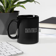 Star Trek: Generations Kirk & Picard 25 Logo Black Mug