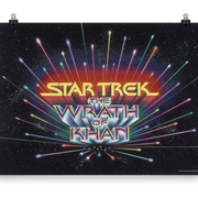 Star Trek II: The Wrath of Khan Premium Satin Logo Poster