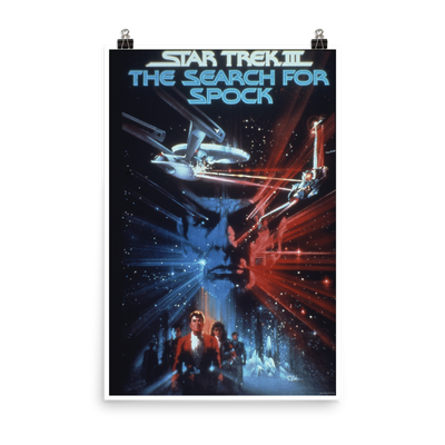 Star Trek III: The Search for Spock Premium Satin Poster