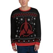 Star Trek Klingon Christmas Adult All-Over Print Sweatshirt