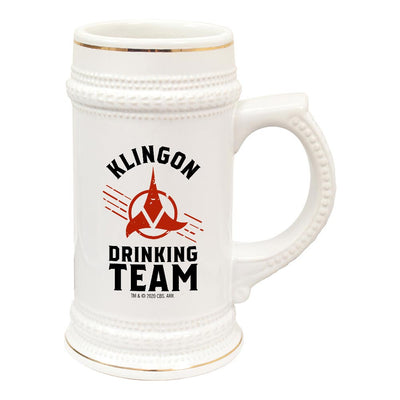Star Trek Klingon Drinking Team 20 oz Ceramic Beer Stein