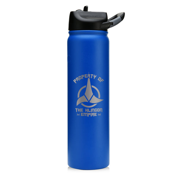 Star Trek Klingon Property Of Laser Engraved SIC Water Bottle