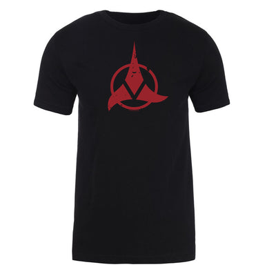 Star Trek Klingon Red Logo Adult Short Sleeve T-Shirt