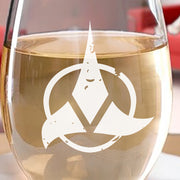 Star Trek Klingon Logo Laser Engraved Stemless Wine Glass