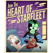 Star Trek: Lower Decks Heart of Starfleet Recruiting Premium Satin Poster