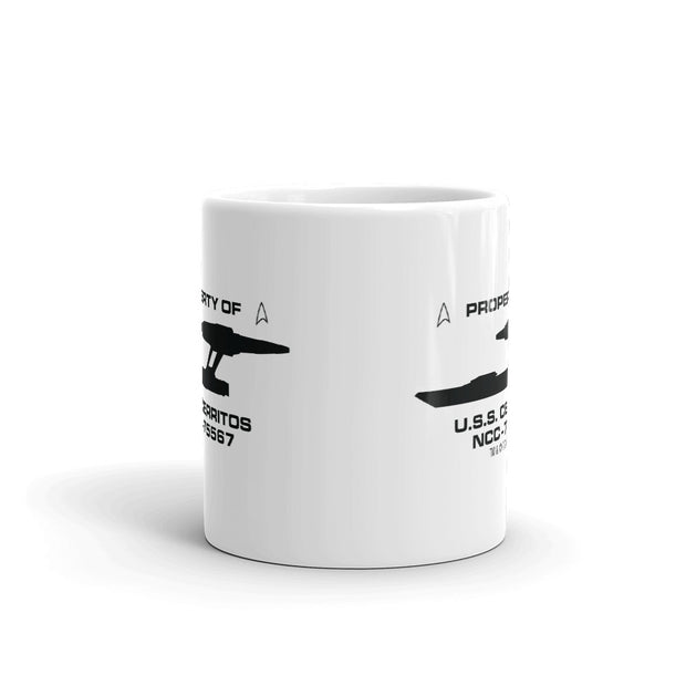 Star Trek: Lower Decks Property Of White Mug