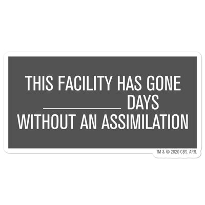 Star Trek: Picard Assimilation Sign Die Cut Sticker