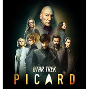 Star Trek: Picard Cast Collage Logo Satin Poster
