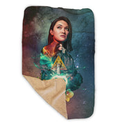 Star Trek: Picard Daj Soji Collage Sherpa Blanket