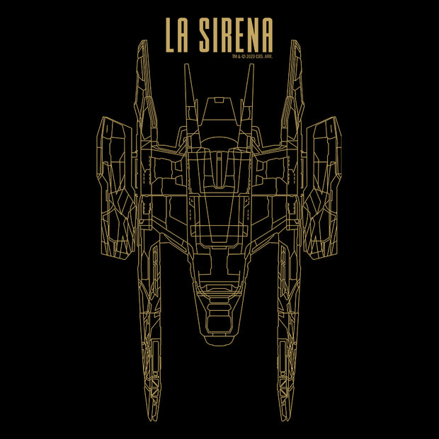 Star Trek: Picard La Sirena Schematic Adult Short Sleeve T-Shirt