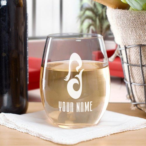 Star Trek: Picard La Sirena Personalized Laser Engraved Stemless Wine Glass
