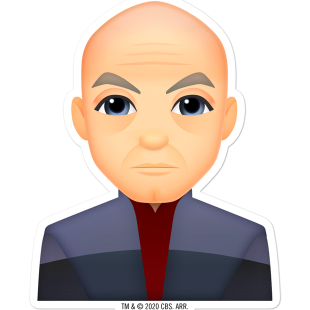 Star Trek: Picard Picard Emoji Die Cut Sticker