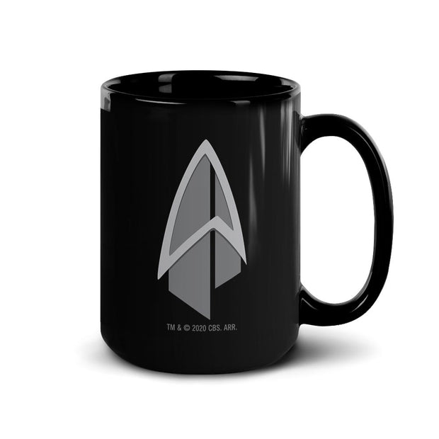 Star Trek: Picard Starfleet Badge Black Mug