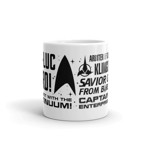 Star Trek: Picard Tribute White Mug