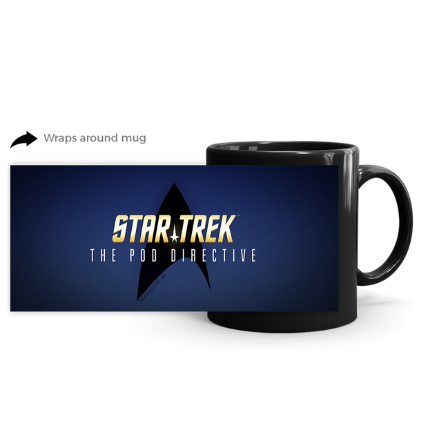 Star Trek The Pod Directive Black Mug