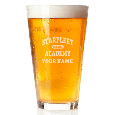 Star Trek: Starfleet Academy EST. 2161 Personalized Pint Glass