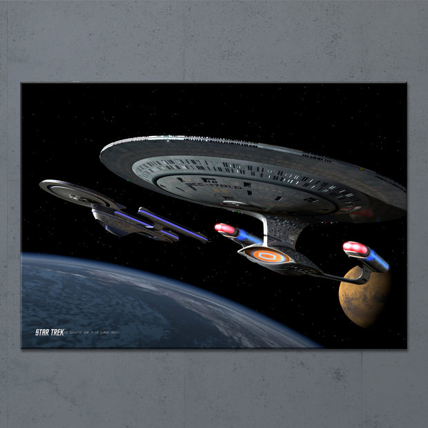 Star Trek: The Next Generation Ships of the Line Making for Deep Water Acrylic