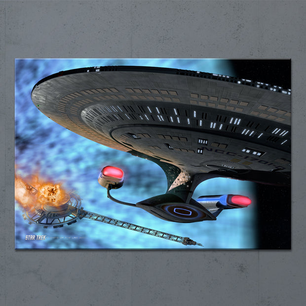 Star Trek: The Next Generation Ships of the Line Quantum Mystery Acrylic