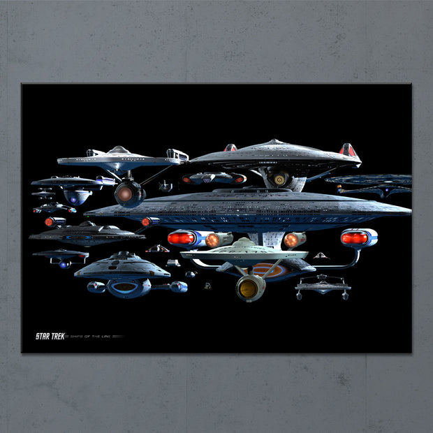 Star Trek Ships of the Line Starfleet Collage Acrylic