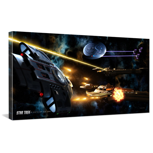 Star Trek: Deep Space 9 Ships of the Line Fortune Favors the Bold Traditional Canvas