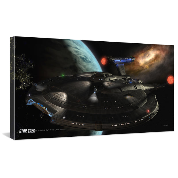 Star Trek: Enterprise Ships of the Line Distant Cousins Traditional Canvas