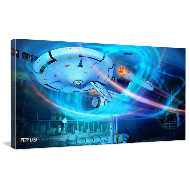 Star Trek: Enterprise Ships of the Line Wind Tunnel Traditional Canvas