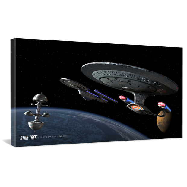 Star Trek: The Next Generation Ships of the Line Making for Deep Water Traditional Canvas