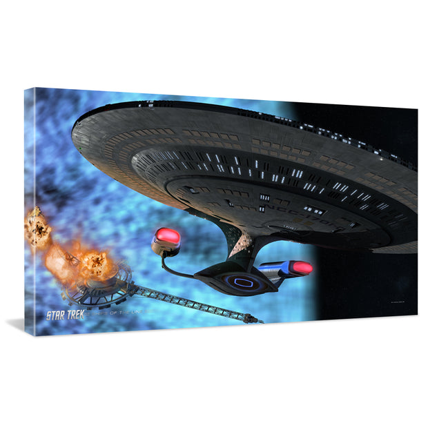 Star Trek: The Next Generation Ships of the Line Quantum Mystery Traditional Canvas