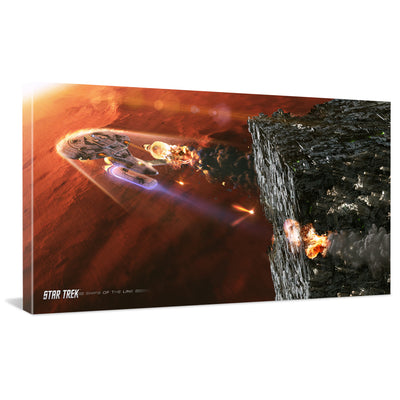 Star Trek: The Next Generation Ships of the Line Terminal Descent Traditional Canvas