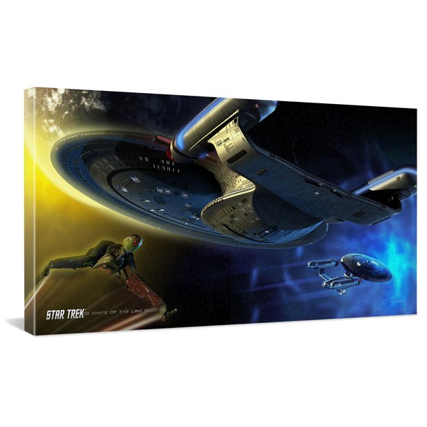 Star Trek: The Next Generation Ships of the Line Yesterday's Enterprise Traditional Canvas