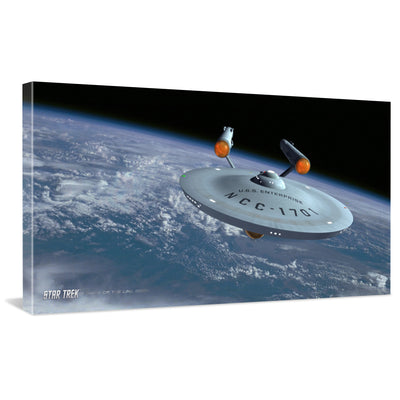Star Trek: The Original Series Ships of the Line Assignment Earth Traditional Canvas