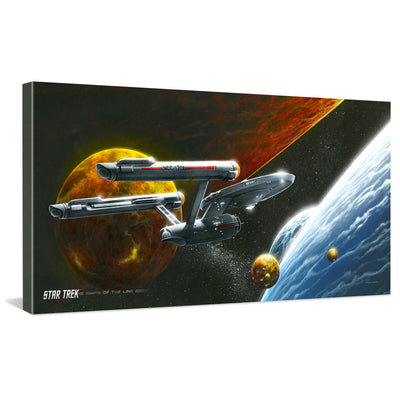 Star Trek: The Original Series Ships of the Line Oceans of Blue and Seas of Fire Traditional Canvas