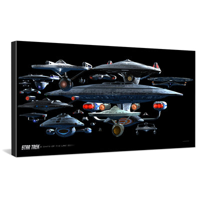 Star Trek Ships of the Line Starfleet Collage Traditional Canvas