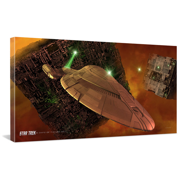 Star Trek: Voyager Ships of the Line Armored Voyager Traditional Canvas